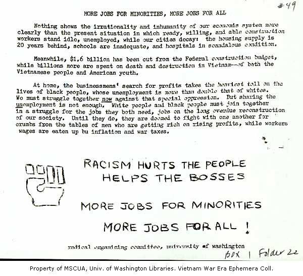More Jobs for Minorities, More Jobs for All - Vietnam War Era
