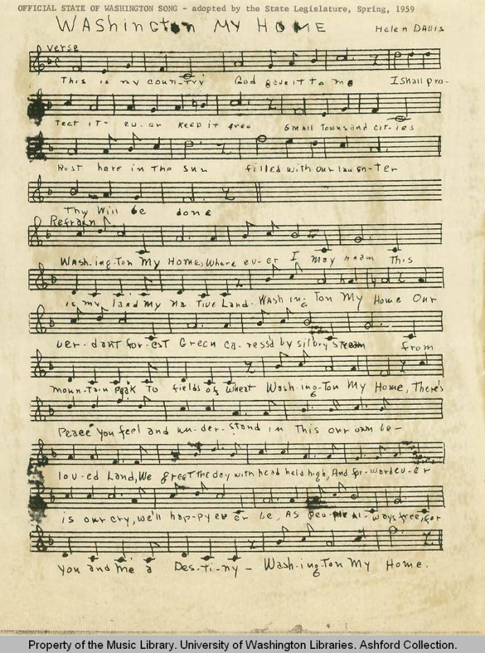 Front cover - Pacific Northwest Sheet Music Collection